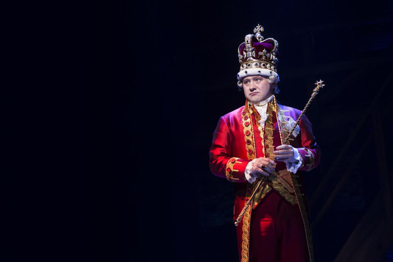 How to get Hamilton tickets - King George played by Michael Jibson